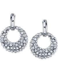 2028 - Silver-tone Crystal Mini-hoop Earrings - Lyst