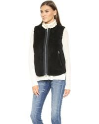 Madewell Faux Fur Vest  True Black - Lyst