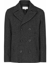 Reiss Boston Double Breasted Jacket - Lyst