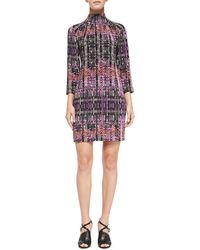 Nanette Lepore Handloom Print Short Dress - Lyst