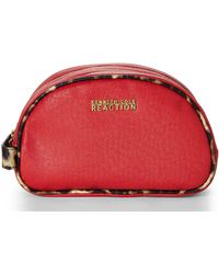 Kenneth Cole Reaction Red Double Zip Cosmetic Case - Lyst