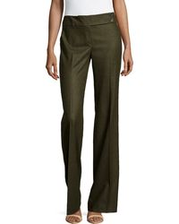 Michael Kors Pleated Wide-Leg Trousers - Lyst