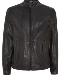 Boss Black Perforated Bomber Jacket - Lyst