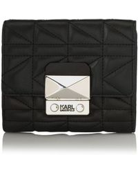 Karl Lagerfeld | K/kuilted Small Wallet | Lyst