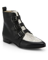 Jimmy Choo Marlin Leather Ankle Boots - Lyst