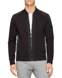 Calvin Klein Zip Front Jacket black - Lyst