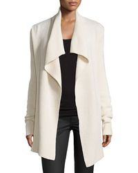 Vince Long Draped Cardigan - Lyst
