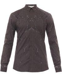 Alexander McQueen Floral-Print Cotton Shirt - Lyst