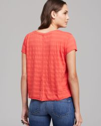 Velvet By Graham & Spencer Tee Kameka Tonal Stripe - Lyst