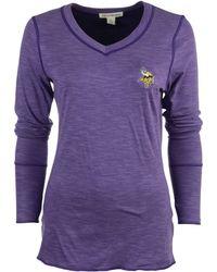 Cutter   Buck - Women s Long-sleeve Minnesota Vikings Reversible Formation  T-shirt - 40a9f4418