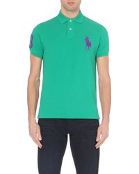 Ralph Lauren Custom-Fit Cotton-Piqué Polo Shirt - For Men - Lyst