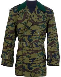 Jean Paul Gaultier - Camouflage Trench Coat - Lyst