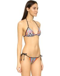 Cm Cia Maritima - Rainbow Triangle Bikini Top - Lyst