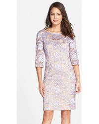 Alex Evenings Embroidered Lace Sheath Dress - Lyst