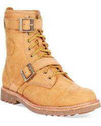 Polo Ralph Lauren Maurice Buckle Boots beige - Lyst