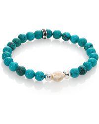 King Baby Studio Turquoise Bead Bracelet blue - Lyst