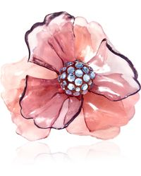 Carole Tanenbaum - Vintage Pink Resin Flower Pin - Lyst