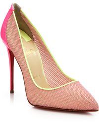 Christian Louboutin | Woven Color-Blocked Pumps | Lyst