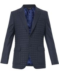 Paul Smith Quilted Checked Blazer - Lyst