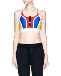 Monreal London Colourblock Padded Racerback Sports Bra multicolor - Lyst