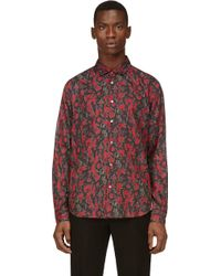 Marc By Marc Jacobs Pink and Grey Sergeant Pepper Spike Shirt - Lyst