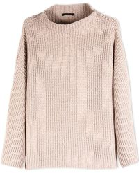 The Row Long Sleeve Sweater beige - Lyst