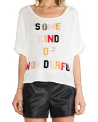 Sass & Bide Kind Of Wonderful Tee - Lyst