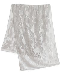 Armani Floral Embroidered Silk Stole - Lyst