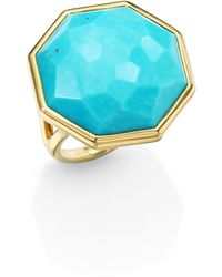 Ippolita Rock Candy Turquoise & 18K Yellow Gold Large Octagon Ring - Lyst