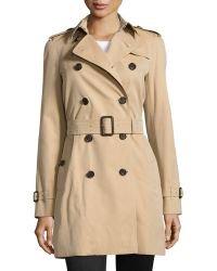Burberry Mid-Length Classic Trenchcoat - Lyst