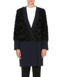 10 Crosby Derek Lam Faux Fur Panel Coat - Lyst