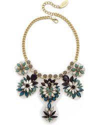 Adia Kibur Bold Floral Jewel Necklace - Blue Multi - Lyst