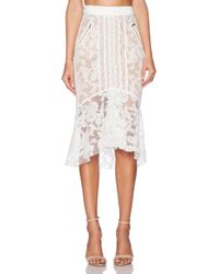Three Floor Ace Of Lace Skirt - Lyst