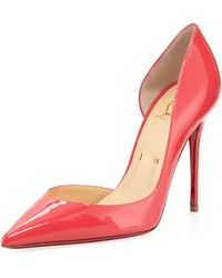Christian Louboutin Iriza Patent Pointy Dorsay Red Sole Pump Pink - Lyst