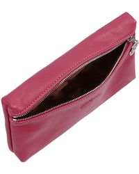 Longchamp Le Pliage Cuir Clutch Bag - Lyst