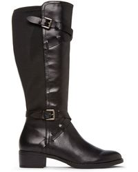 Franco Sarto Black Chrome Riding Boots - Lyst