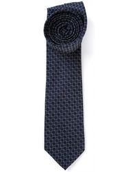 Mr Start Navy Circle Tie - Lyst