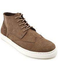 Menlook Label Taupe Nubuck Sneakers - Lyst