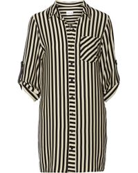 Milly Stretch Crepe De Chine Shirt Dress - Lyst