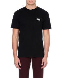 Obey Worldwide Logo Tshirt Black - Lyst