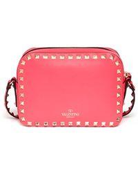 Valentino Rockstud Leather Camera Bag - Lyst