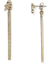 Lydell NYC - Kat Front-back Earrings - Lyst