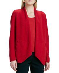 Eileen Fisher Merino Wool Open Jacket - Lyst