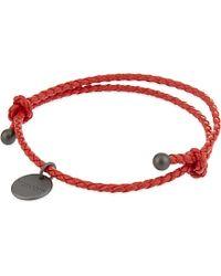 Bottega Veneta - Intrecciato Nappa Leather Bracelet, Women's, Vesuvio - Lyst