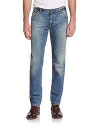 Dolce & Gabbana D-gold Distressed Jeans - Lyst