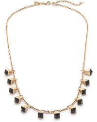 J.Crew Tipped Droplet Necklace - Lyst