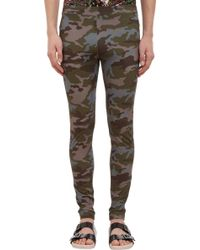 Givenchy Brown Camoprint Leggings - Lyst