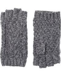 Barneys New York Knit Fingerless Gloves - Lyst