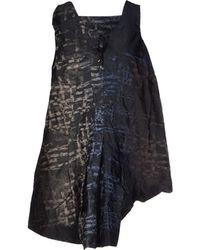 Marithé x François Girbaud Black Short Dress - Lyst