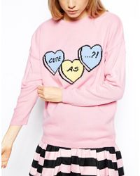 Asos Jumper with Cute As Logo - Lyst